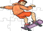 Puzzle-hra-s-skateboarder